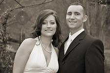 Wedding Photography:  black & white portrait