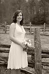 Wedding Photography:  black & white individual portrait