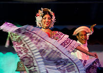 Couple Performs a Panamanian Dance at La Concepción, Panama