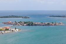 San Blas village from the sky