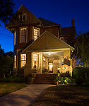 The Noble Manor Bed and Breakfast at Night
